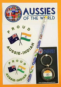 PROUD AUSSIE - INDIAN GIFT AUSTRALIAN KEYRING MAGNET STICKER INDIA SOUVENIR