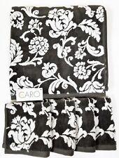 Neuf Home Caro 5 Pièces Gris+Blanc Floral 100% Cotton 1 Serviette de Bain + 4