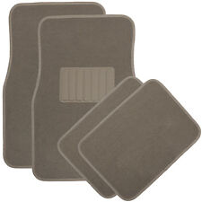 Car Floor Mats for Auto 4pc Carpet Semi Custom Fit Heavy Duty w/Heel Pad Beige