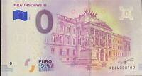BILLET 0  EURO BRAUNSCHWEIG  ALLEMAGNE 2018 NUMERO 100