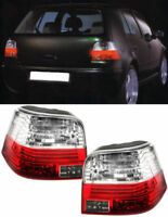 CRYSTAL CLEAR REAR TAIL LIGHTS LAMPS FOR VW GOLF MK4 MK 4 10/1997-9/2003