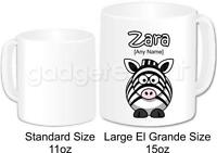 Personalised Gift Animal Zebra Large Coffee Tea Mug Cup Birthday Present Idea
