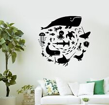 Wall Decal Whale Octopus Fish Marine Animals Bathroom Vinyl Stickers (ig3008)