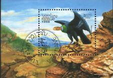 Laos Bloque 148 (edición completa) usado 1994 prehistoria Aves
