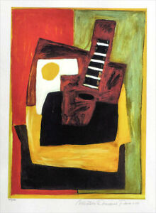 Pablo Picasso Still Life With Guitar Limited Giclee Estate Signed 20x13