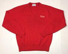 Vintage 80's Pontiac Motorsports Red V-Neck Sweater Adult Medium Retro Racing