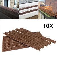 10 pics anti oiseaux Plastique Anti pigeons Défense Sécurité pour votre clôture