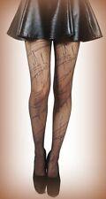 BLACK SHEER Splash effetto Fashion Collant da Pamela Mann 8 - 14 (620825)