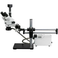 AmScope 3.5X-90X Fiber Optic Light Ball Bearing Stereo Microscope + 5MP Camera