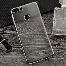 Funda Huawei P Smart Gel Metalizada Tpu Cromada Borde silicona coque case case