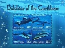 Les dauphins des Caraïbes Vie Marine STAMP SHEET (2013 Antigua-et-Barbuda)