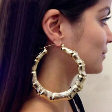 Punk Style Round Hoop Big Bamboo Earring Women Popular Fashion Stud Jewelry