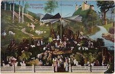 Weihnachten im Erzgebirge mit Mühle, Engel, Schafe und Weihnachtsberg  1914