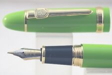 Jinhao No. 159 Lacquered Lime Green Fine Fountain Pen with Gold Plated Trim