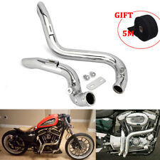 "2"" Drag Pipe Exhaust + Heat Wrap Roll for Touring Models Sportster Models"