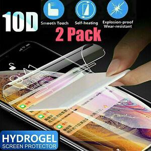 [2PK] For LG v20 v30 v40 v50 ThinQ Full Cover Soft Hydrogel TPU Screen Protector