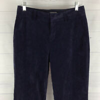 Coldwater Creek Petite Womens 6P Stretch Navy Blue Bootcut Corduroy Pants in EUC