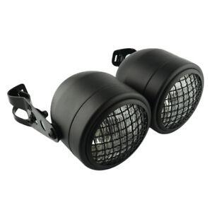 Dominator Dual Motorcycle Twin /w Bracket Headlight Lamp Glass Lens Clear