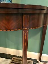 : HENKEL HARRIS Mahogany #5701 Myers Flip Top Game Hall Table ~