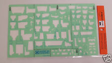 NOS Timely Template Stencil American Standard 9383-B Plumbing Elevation View