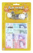 Kids Childrens Fake Pretend Role Play Money Pound Coins Notes Cash Shops Toy