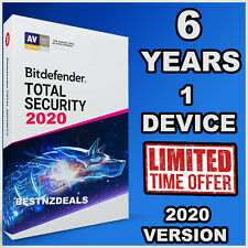 BITDEFENDER TOTAL SECURITY 2020 - 6 YEARS FOR 1 DEVICE - DOWNLOAD
