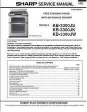 Repair Manual: Sharp Microwave Oven (Your choice of 1 manual, models below)