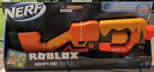Nerf Roblox Adopt Me! Bees! Lever Action Dart Blaster Gun *Includes Code* 8 Dart