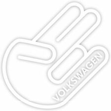"Shocker Volkswagen VW 8"" Vinyl Decal Sticker Euro Dub Golf Jetta Beetle Hand"