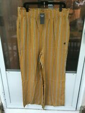 New Abercrombie Paperbag Wide Leg Yellow Pants XL