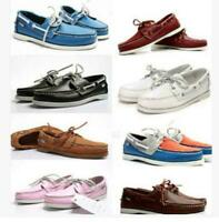 Men's Docksides deck Spinnaker Top-Side Lace Up Moccasin Real Leather Boat shoes