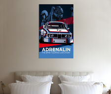 Classic BMW Poster - 30x20 Inch Canvas Art - Framed Picture Print Wall Art