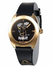 David & Goliath Hip Hop Hooray Black and Gold Watch DGW02HOP NIB