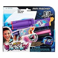 Nerf Rebelle Secrets & Spies Mini Mischief Blaster Toy Gun & Darts New/Sealed!!