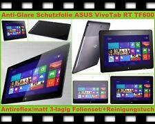 2x Antireflex matt Display Schutz Folie ASUS Vivo Tab RT TF600 TF600T Kratzfest