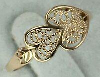 Vintage Original Rose Gold Ring 585 14K, Chic Ring 585 14K