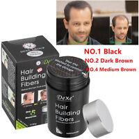 Dexe Black/Dark/Medium Brown Color Hair Building Fibers 22g
