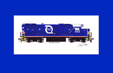 "Florida East Coast GP38-2 #510 11""x17"" Matted Print Andy Fletcher signed"
