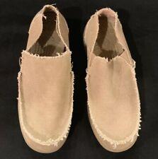 NEW Men's Size 7 CROCS Santa Cruz Khaki Light Brown Loafer SlipOn Casual Shoes