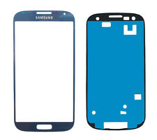 Original Ecran Vitre Outer dark blue Pour Samsung Galaxy S4 i9500 Front Glass