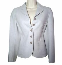 Designer Luciano Barbara light blue Italian wool blazer