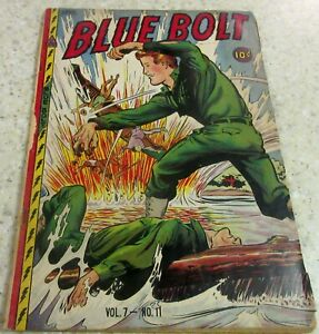 Blue Bolt Vol 7 #11, (GD+ 2.5) 1947 Back cover missing, nice cheap book!