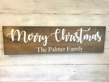 Personalised Christmas Sign/Family name Merry Christmas Plaque/Christmas sign