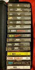 Kiss 15 Cassette Tape Lot Paul Stanley Polygram Casablanca Mercury Play Tested