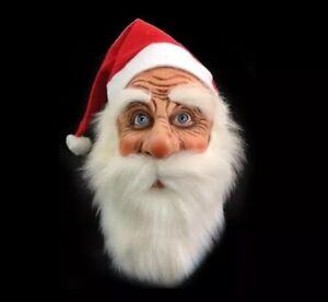 2020 Christmas Santa Claus Latex Mask Cute Costume Masquerade Wig Xmas Party❄