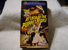 Attack of the Puppet People (VHS, 2000) USED / VERY GOOD / FREE SHIPPING