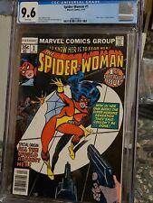 Spider-Woman #1 CGC 9.6 HIGH GRADE Marvel Comic KEY Newstand Origin Jessica Drew
