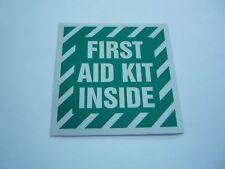 "FIRST AID KIT INSIDE REFLECTIVE, STICKER 4"" X 4"" SCREEN PRINTED 3M 3200 EG"