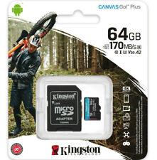 Kingston Go 64GB micro SD Karte SDHC Class 10 UHS-I U3 V30 170MB/s 4K DE/OVP