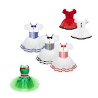 Child Girls Ballet Skating Dance Dress Kids Christmas Elf Costume Fancy Dresses